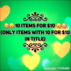 Other - 10 FOR $10 Section
